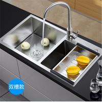 ITAS9935 кухонная двойная раковина 304 из нержавеющей стали матовая дренажная корзина дренажная система толщиной 3,5 мм без крана