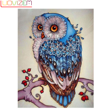 Owl Diamond Painting, Embroidery, Animal, Owl, 5D, Cross-Stitch, Mosaic, Embroidery Christmas Crafts Gifts.L084