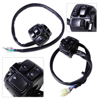 DWCX Motorcycle 1 Handlebar Kill Switch + Ignition Start + Right Horn High / Low Beam turn signal for Harley Sportster Softail