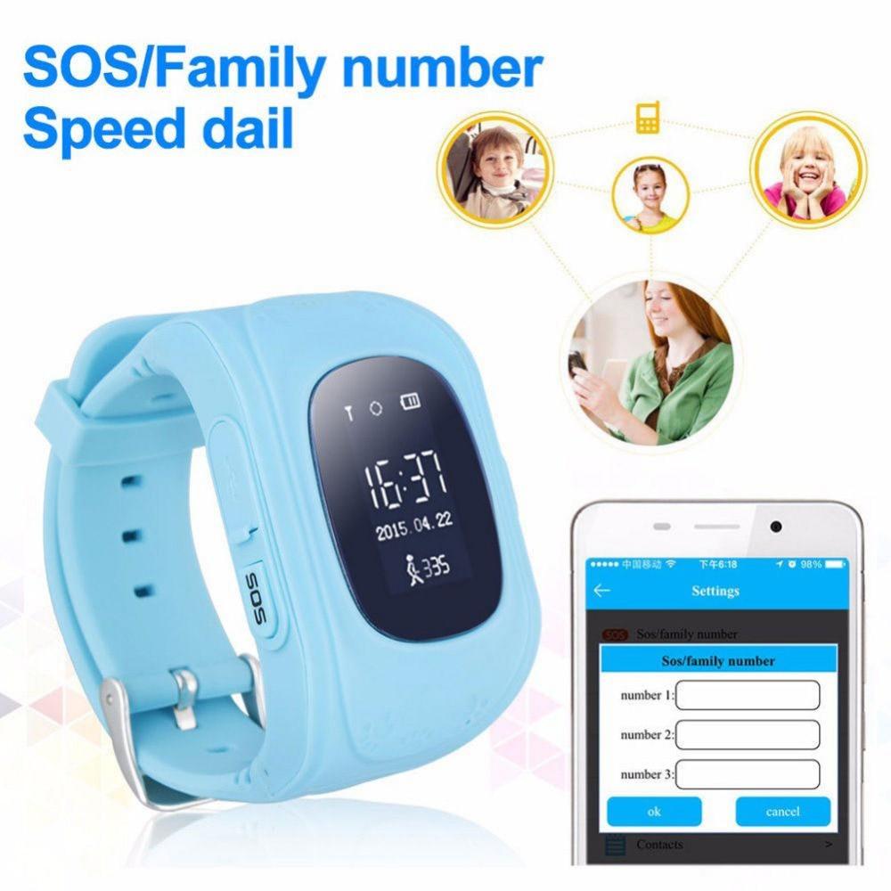 Seedforce Q50 reloj inteligente llamada SOS rastreador de actividad de seguro Android/iOS reloj teléfono Anti-Perdida reloj inteligente con la caja Original