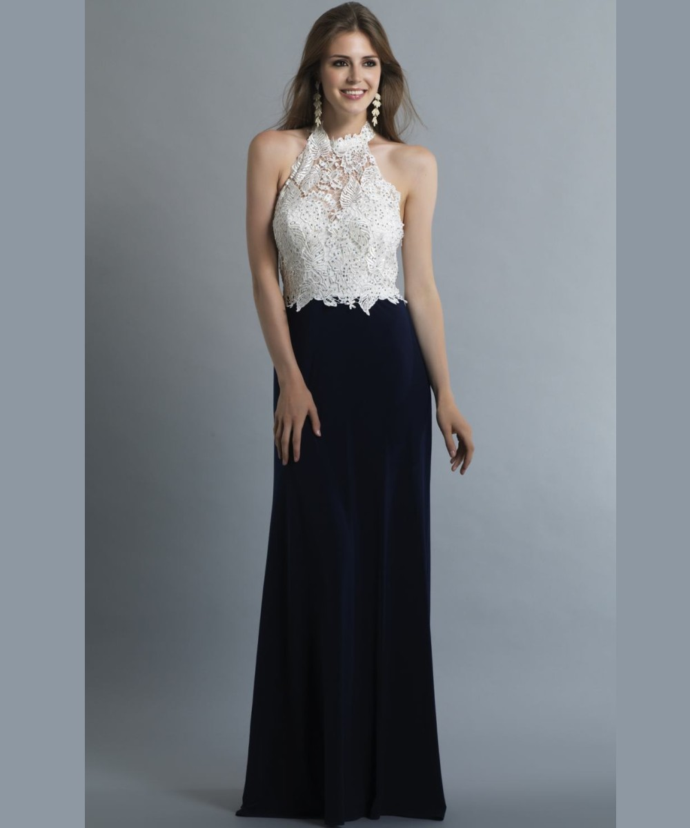 Lace Halter Formal Gowns | Dress images