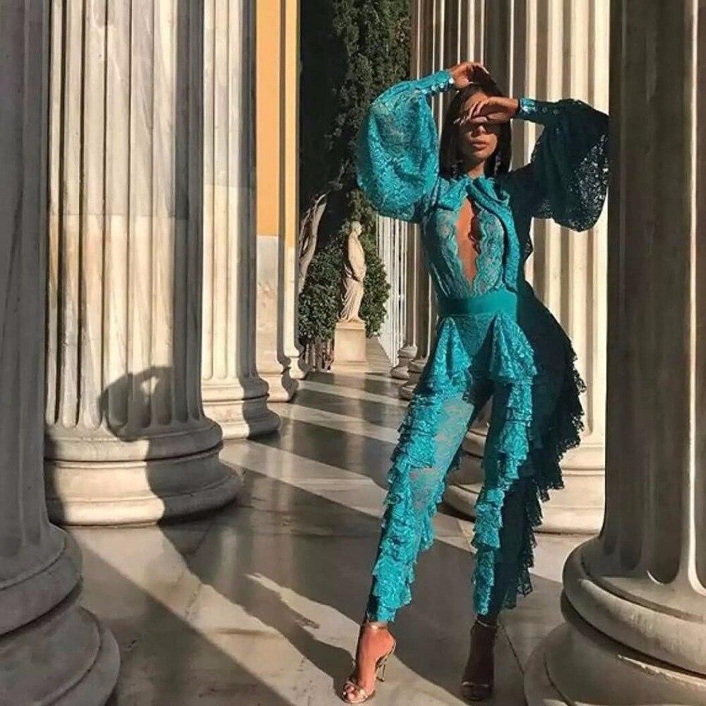 Salopette Nouveau Évider Moulante Blanc Arrivent Bref Causal Clair Élégant Femmes Jumpuits Dentelle Sexy Clubwear Vert 2018 Maille wIdqgxIv