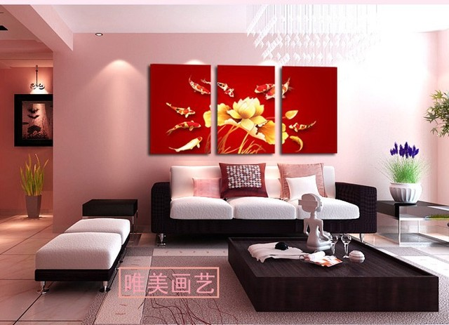 3 paneles living decorativos pintura de la lona moderno enorme de imgenes paint print wall art - Living Moderno