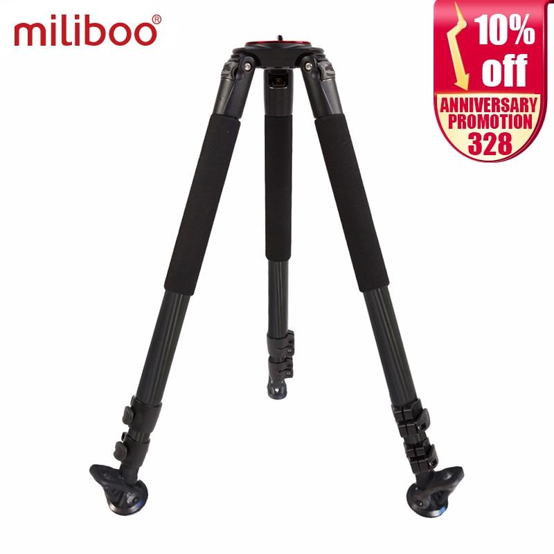 "Miliboo MTT703B Trípode de fibra de carbono para cámara DSLR profesional / videocámara digital Soporte de carga 25 kg Altura máxima 164cm / 63 """