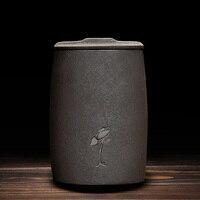 Vintage Art Thee Opslag Jar Keramische Grof Aardewerk Seal Caddy Thee Doos Bonen Koffie Noten Blikjes Container Theewaar Accessoires Craft