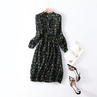 100% натуральная шелковое платье