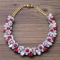 European wind high grade Crystal exaggerated decorative necklace fashion goddess of wild female women birthday698