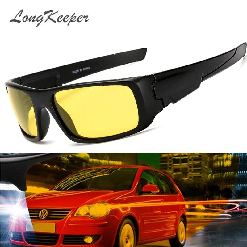 Longkeeper Nachtsicht Gläser Fahrer Fahren Nachtsicht Brille Fahren Gelb Objektiv Klassische Anti Glare Vision Fahrer Sicherheit Ausgereifte Technologien Bekleidung Zubehör Sonnenbrillen