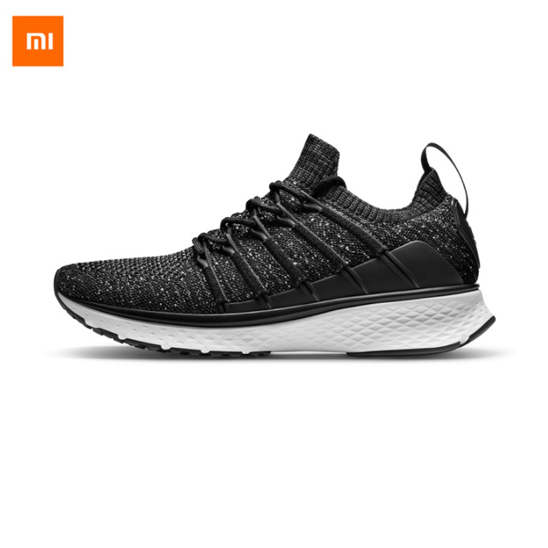 Xiaomi Mijia Sports Shoes Sneaker 2 New Fishbone Lock System Uni-Moulding Techinique Elastic Knitting Vamp For Man