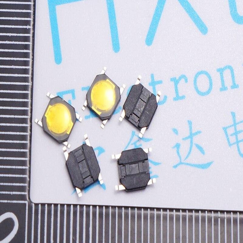 4*4*0.8mm bandes lumière tactile interrupteur interrupteur à Clé Jaune autocollant