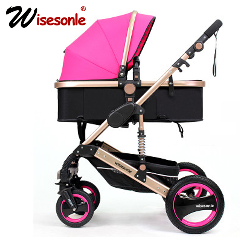 aimile baby stroller 2 in1 stroller four seasons russia free shipping Wisesonle baby stroller 2 in 1 stroller lying or dampening folding light weight Two-sided children's four seasons of Russia Free