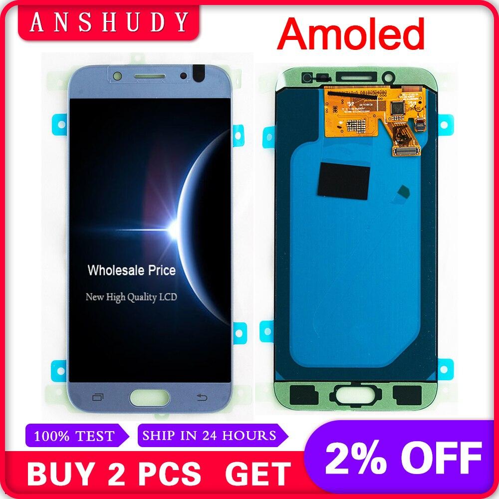 Amoled J530F écran lcd Pour Samsung Galaxy J5 2017 J530 J530FM module afficheur lcd écran tactile Assemblée Capteur