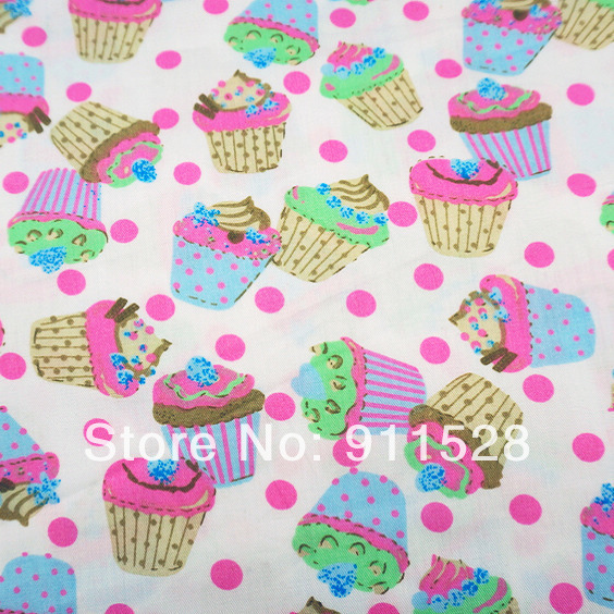 Online get cheap cupcake print fabric for Wholesale childrens fabric