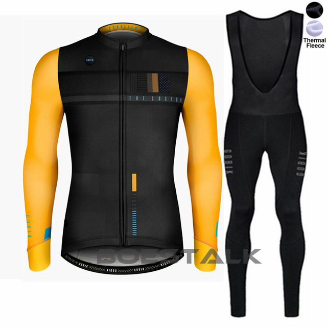 gobik cycling jacket pro team winter thermal fleece warm custom clothing set bike suit wear ropa ciclismo pant pantalon chaqueta