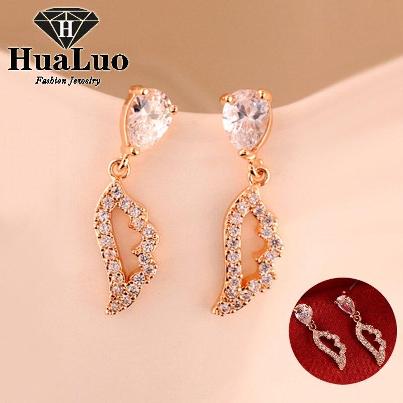 Buyless Fashion Girls And Women Dangle Earrings Rose Gold CZ Fashion Jewelry