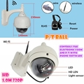 outdoor pt ball waterproof Wireless IP Camera 720P HD wifi CAMERA  Mega P2P V380 free APP PC monitor ONVIF