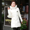 Feather padded winter 2016 new fashion girls long coat Korean slim Hooded Winter Dress