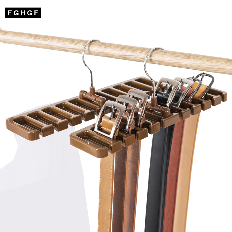Kitchen Bathroom Wardrobe Belt Storage Rack Shelf Organizer Space Saver Rotating For Towel Closet bag tie belt coat hanger Hook