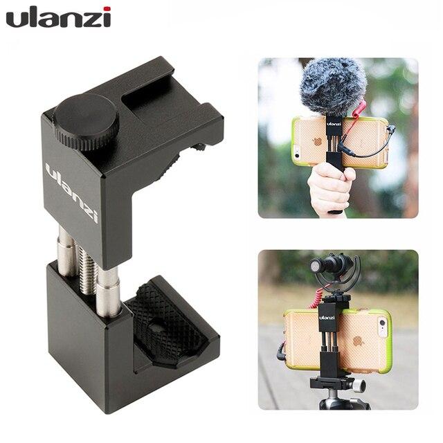 Ulanzi ST 02 Mobile Phone Tripod Mount w Hot Shoe Compatible Aputure AL M9/Boya BY MM1 Microphone for Youtube Vlog Video Maker