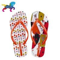 Hotmarzz Women S Stylish Poker Print Flip Flops Beach Slippers Ladies Home House Summer Thong Sandals