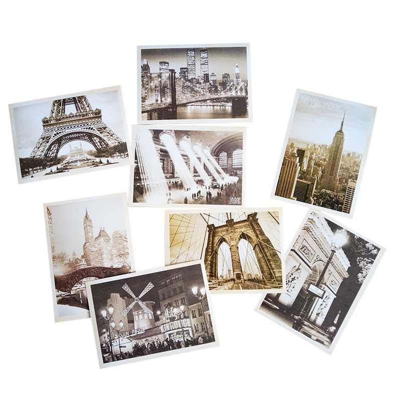 32 Pcs/lot Classical Famous Europe Building Vintage Style Memory Postcard Set Gift Greeting Cards Christmas Postcards