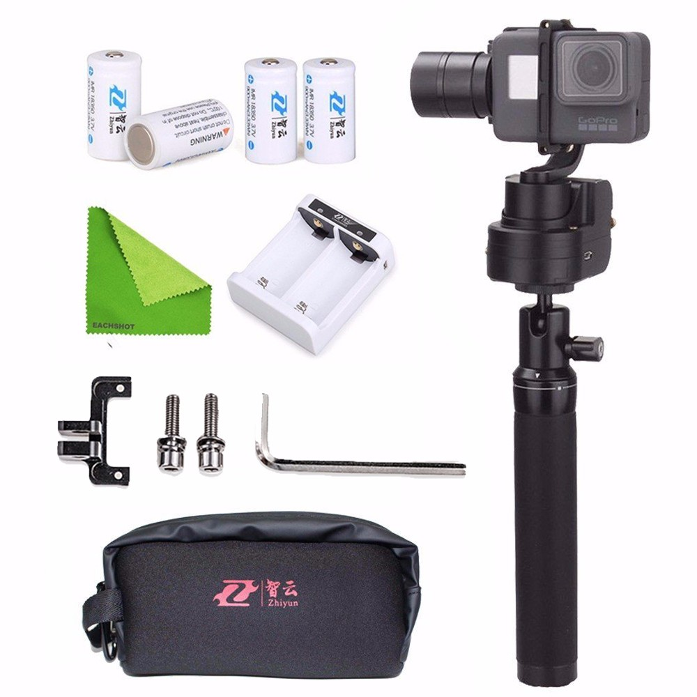 Zhiyun Z1-Rider M WG Wearable 3 Axis Brussless Gopro Camera Gimbal Stabilizer for Gopro Session 5/4 Hero 5/4/3/3+ Remote Control 5pcs 2s 7 4v 8 4v 18650 li ion lithium battery charging protection board pcb 40 7mm overcharge overdischarge protection