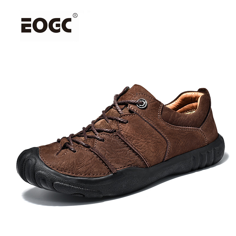 Natural Leather Shoes Men High Quality Comfort Casual Shoes Flats Handmade Footwear Nonslip Rubber Men Shoes 2017 spring autumn breathable white wild men casual shoes 100% handmade pigskin leather comfort men shoes high quality size40 44