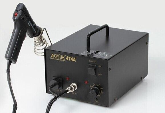 AOYUE-474A+ 110V / 220V AOYUE 474+ Desoldering Station hot air gun 220v lead free repairing system desoldering station of aoyue 2702a hot air gun desoldering gun