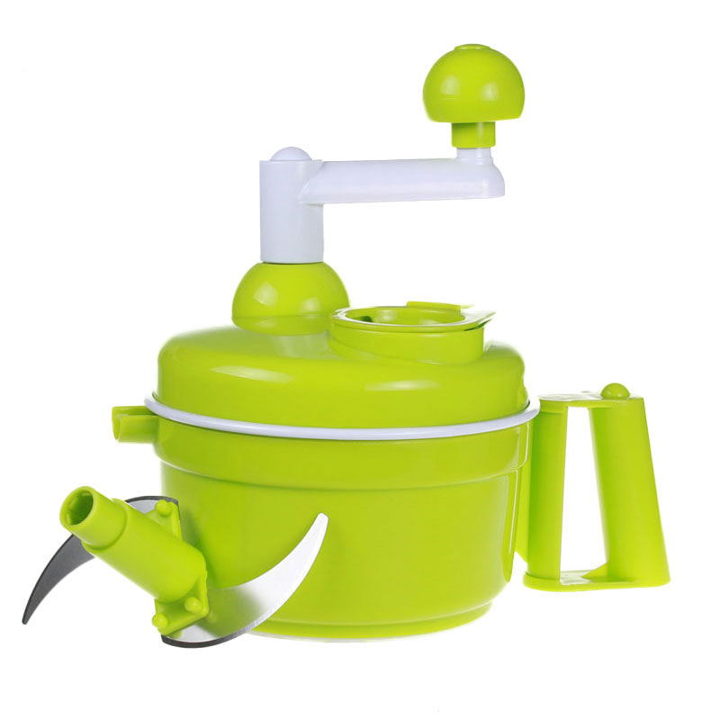 Cooking Tool Kitchen Manual Food Processor Household Meat Grinder Vegetable Chopper Quick Shredder Green Cutter Egg Blender