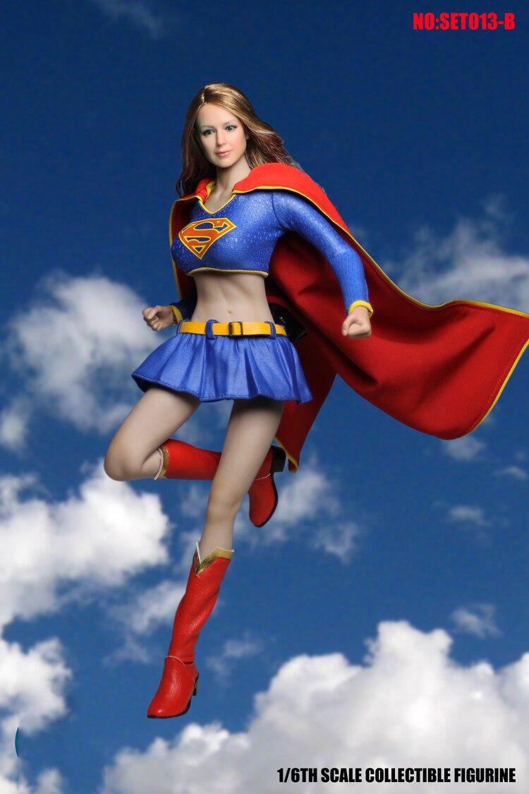 DIY 코스프레 1/6 SET013B 여성 의류 세트 Supergirl Hero 양복 Superwoman 시리즈 액세서리 1:6 선탠 액션 피규어 바디-에서액션 & 장난감 숫자부터 완구 & 취미 의  그룹 2