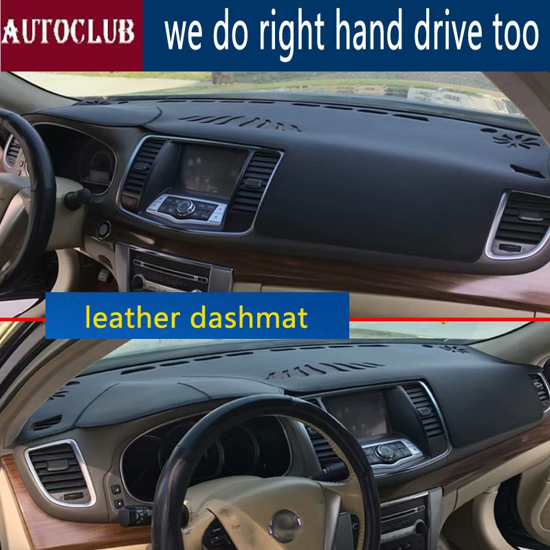 For Nissan Teana J32 2008-2013 Leather Dashmat Dashboard Cover Pad Dash Mat SunShade Carpet Custom 2009 2010 2011 2012 image