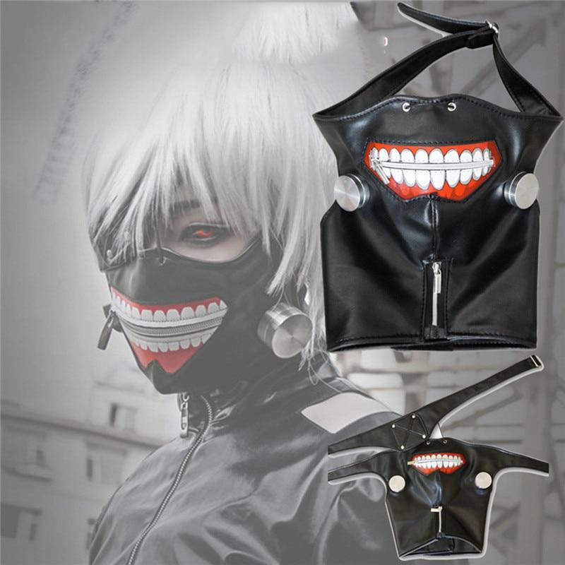 Tokyo ghoul kaneki ken mask halloween party black face mask cartoon masquerade masks decor for cosplay event party supplies PU mata bor amplas