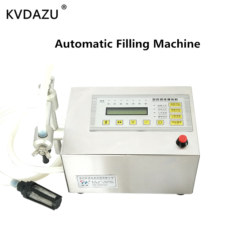 Digital Control Pump Liquid Automatic Filling Machine LCD Display Mini Portable Electric Perfume Water Drink Milk Bottles Filler