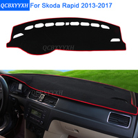 Car Styling Dashboard Protective Mat Shade Cushion Photo Phobism Pad Interior Carpet For Skoda Rapid 2013
