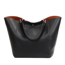 Women Genuine Leather Handbag Big Hobos Tote Bag Luxury Ladies Design Shoulder Bag Real Leather Handbags Womens Purse Sac Femme