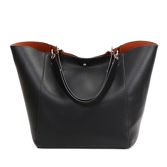 db150779794 US $51.5 |Women Genuine Leather Handbag Big Hobos Tote Bag Luxury Ladies  Design Shoulder Bag Real Leather Handbags Womens Purse Sac Femme -in  Shoulder ...