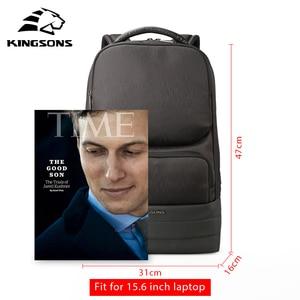 Image 3 - Kingsons Men Backpack 2.0 USB Recharging Water Repellent Laptop Backpacks Men Business Fashion Shoulder Bags Black Technology