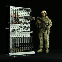 1/6 scale model toy tactical gun rack rifle shotgun display stand storage gears of war 2 cavalry assault rifle chainsaw gun scale 1 1 paper model diy handmade toy
