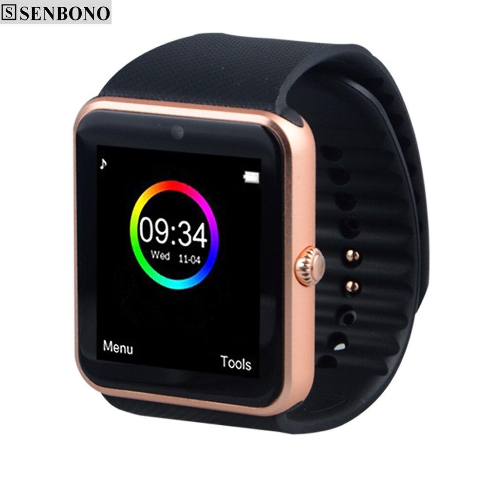 imágenes para Bluetooth Reloj Elegante Reloj de Sincronización GT08 Notificador Deporte Pasómetro Apoyo TF Tarjeta Sim Smartwatch para iphone Android Teléfono