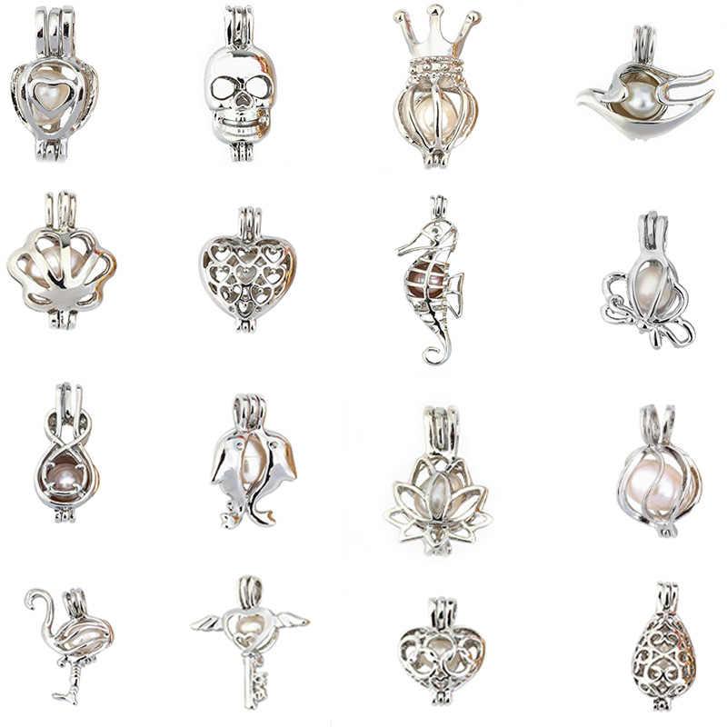 Plus de 50styles perle Cage résultats de bijoux Cage médaillon pendentif huile essentielle diffuseur médaillon pour huître perle femmes fille