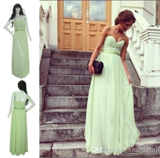 free shipping new fashion 2016 vestidos de festa casual formal sexy long party bride gown mint green long   Bridesmaid     Dresses