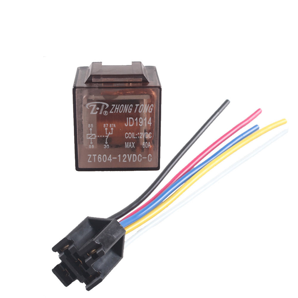 EE support 5 X Car Truck Auto 12V 60A 60 AMP SPDT Relay Relays 5 Pin 5P & Socket 5 Wire XY01