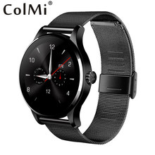 ColMi K88H Plus Smart Watch 1.22 Inch Round Screen Support Heart Rate Monitor Bluetooth MTK2502C Wristwatch For IOS Android