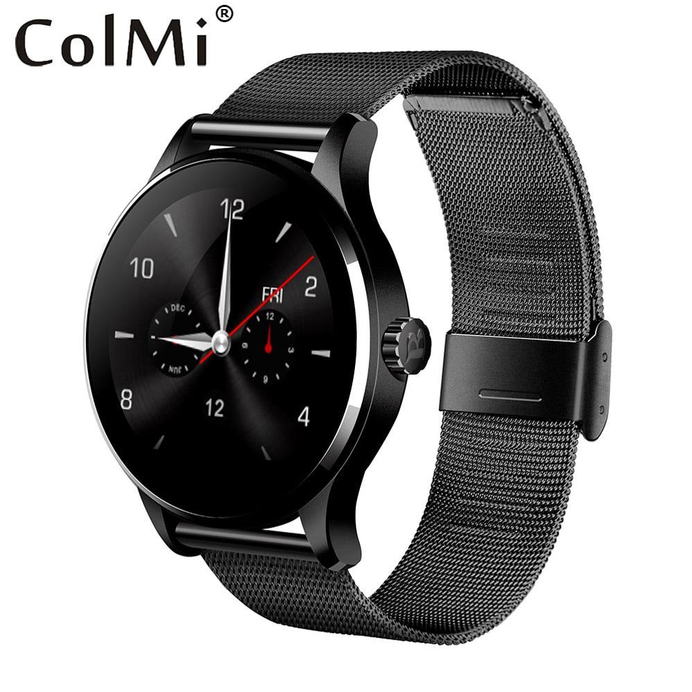Colme de K88H Plus reloj inteligente 1,22 pulgadas ronda pantalla Monitor del ritmo cardíaco Bluetooth MTK2502C reloj para IOS Android