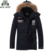 Afs Jeep Brand Down Parka White Duck Down Jacket Men Thick Winter Coats Casacos de Inverno Masculino Jaqueta Masculino Inverno