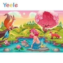 Yeele Cartoon Fairytale Mermaid Posters Scene Baby Children Photography Background Banner Photographic Backdrop For Photo Studio
