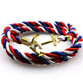 Unisex Multilayer Multi-color Rope Handmade Cuff Wristband Anchor Bracelet
