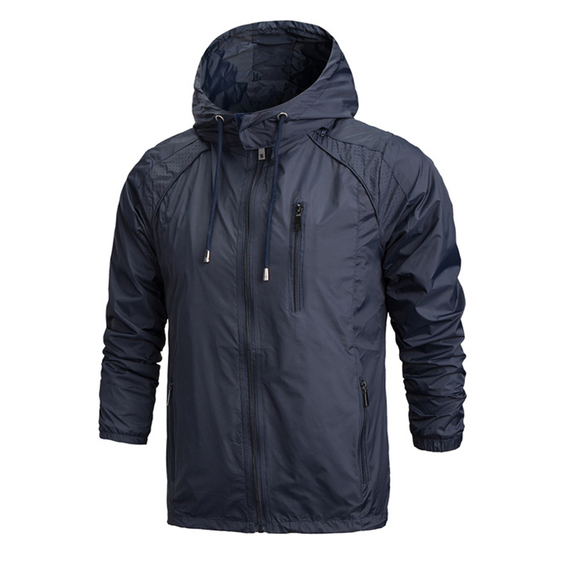 Mens Brand Clothing Spring Summer Mens Fashion Outerwear Windbreaker Men Thin Jackets Hooded Casual Sporting Coat Plus Size 4XL