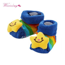 WEIXINBUY New Winter Animal Lovely Cartoon Baby Socks Shoes Cotton Newborn Booties Unisex Infant Kids Boots Fisrt Walkers 0-10MT(China)