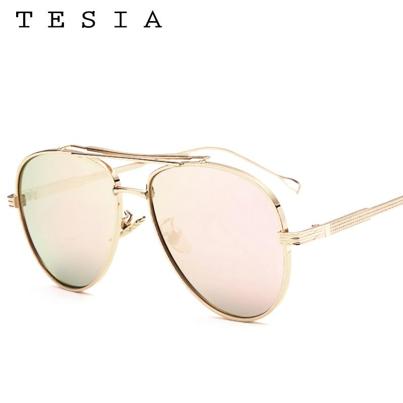 TESIA Pilot Solglasögon Män Brand Designer Reflekterande Mirrored - Kläder tillbehör - Foto 6